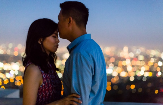 Los Angeles – Arts District – Griffith Observatory – Engagement Session – Emily & James