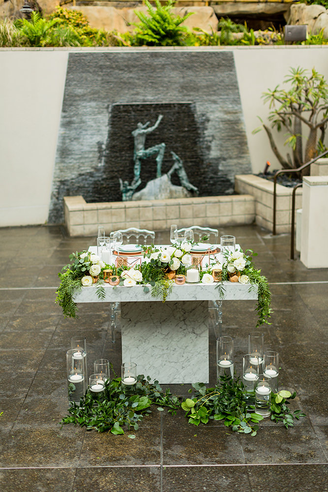 Weddin inspiration at Seven Degrees in Laguna Beach, Southern California
