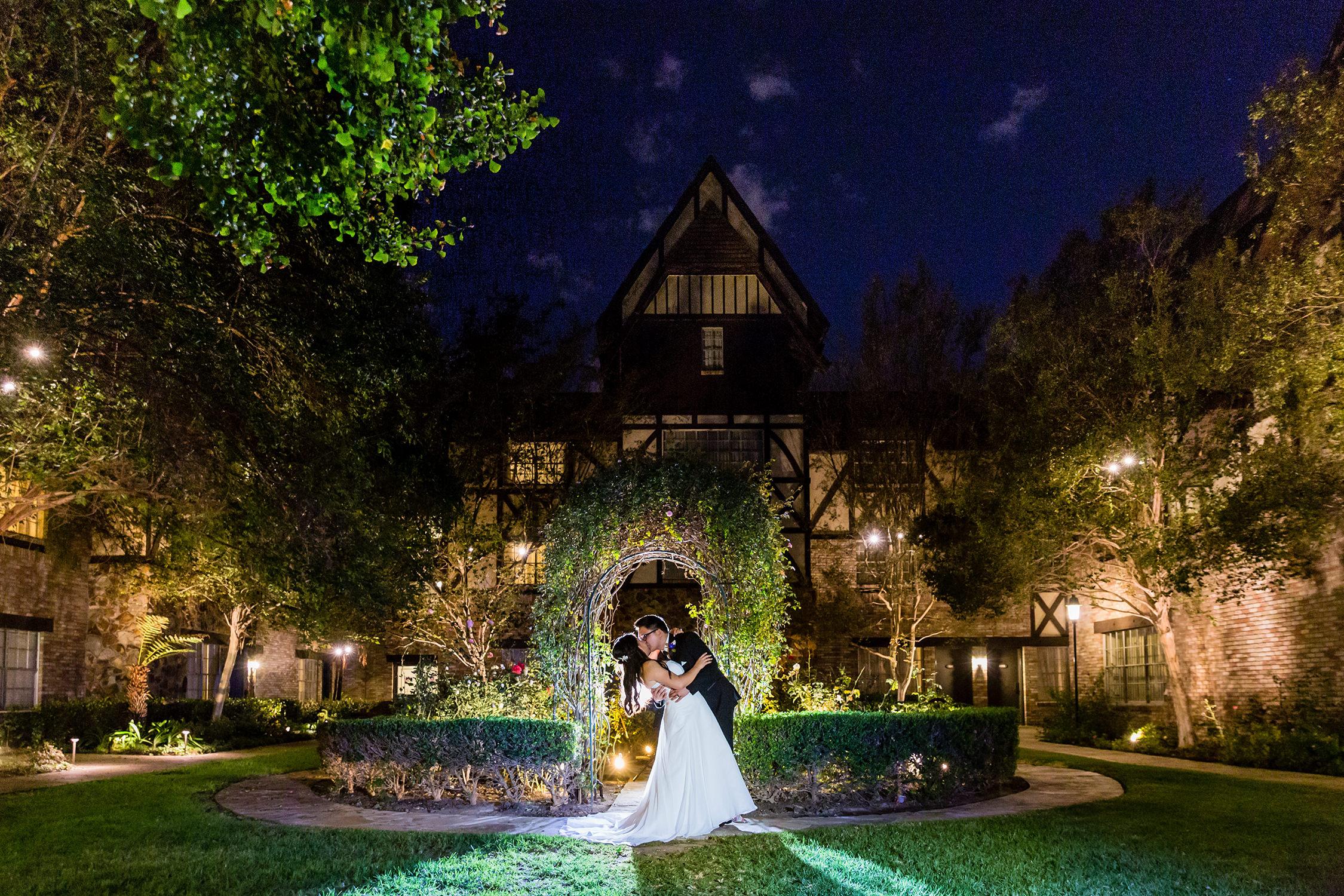 bycphotography anaheim majestic garden hotel anaheim wedding rose garden