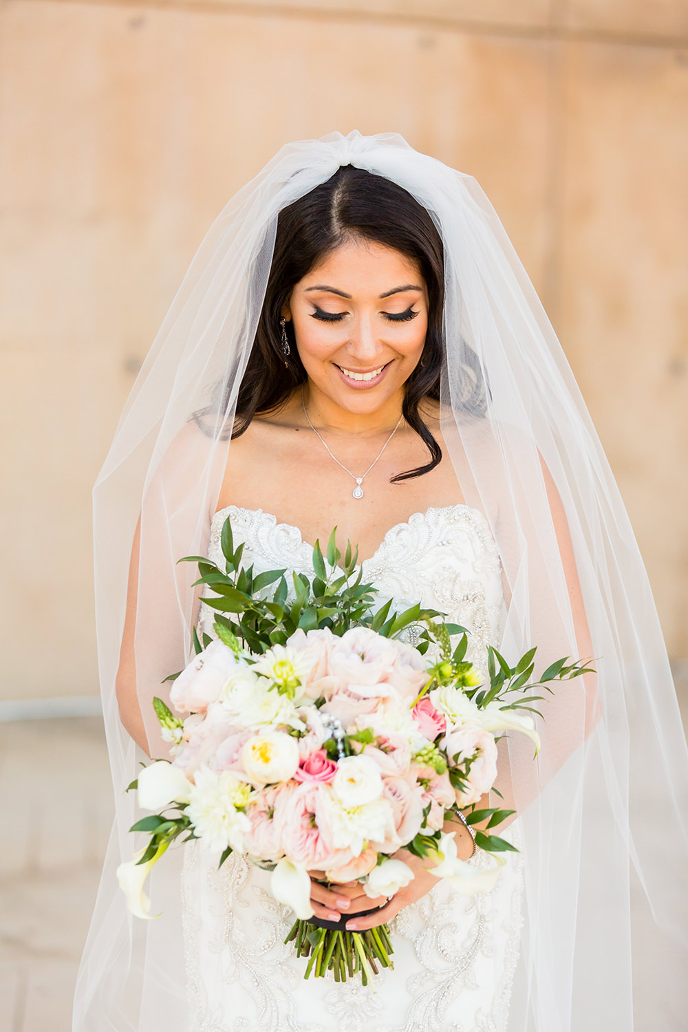 bycphotography cathedral of our lady of the angels downtown los angeles wedding portrait