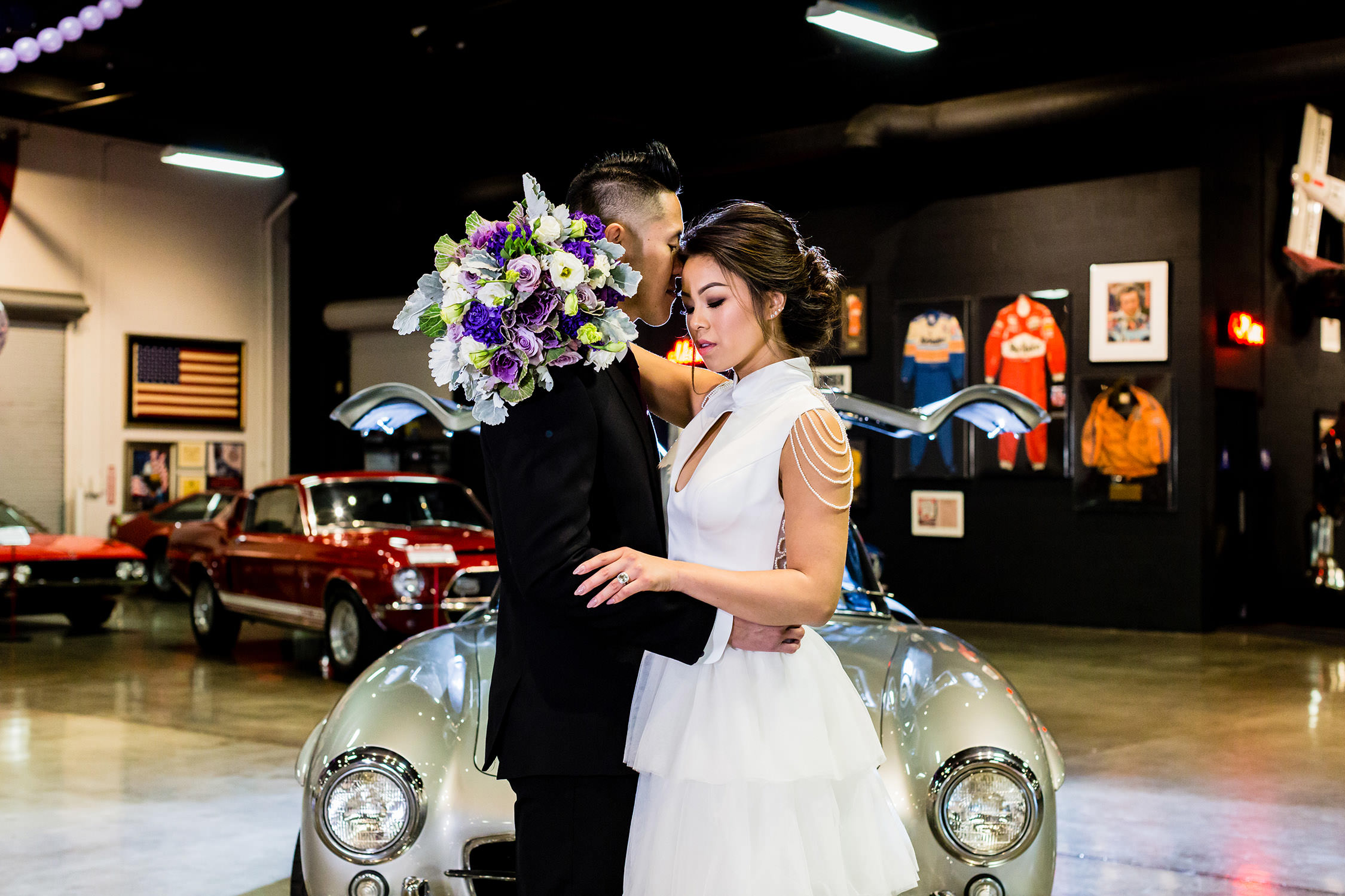 Marconi Automotive Museum Southern California Wedding in Costa Mesa