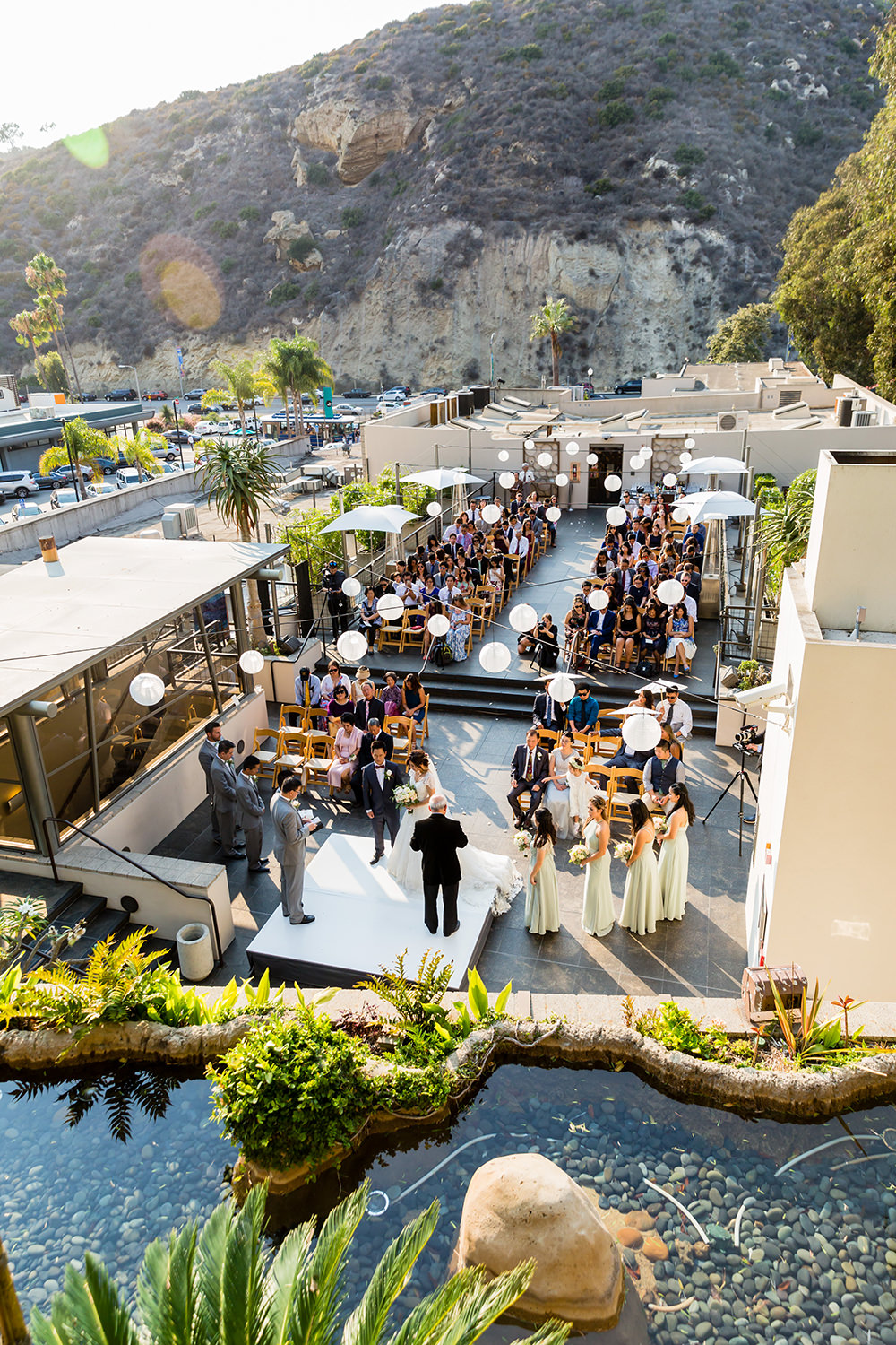 bycphotography seven degrees laguna beach wedding ceremony rooftop