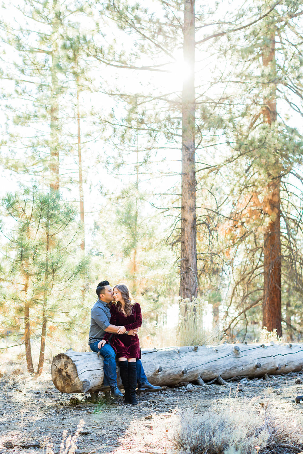 Engagement Session in the woods at Big Bear Lake, California