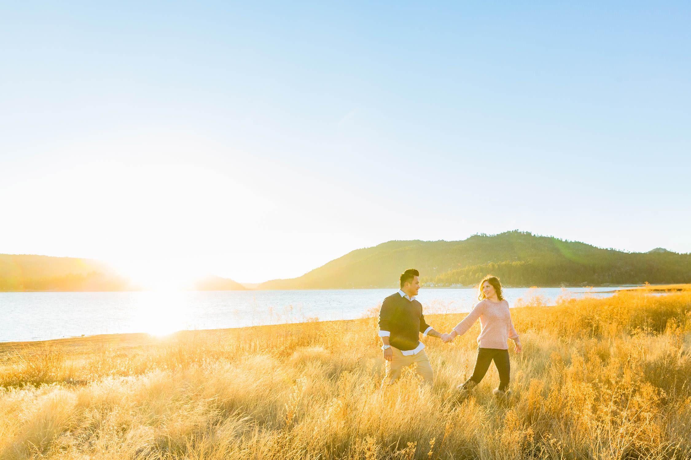 Engagement Session at Big Bear Lake, California