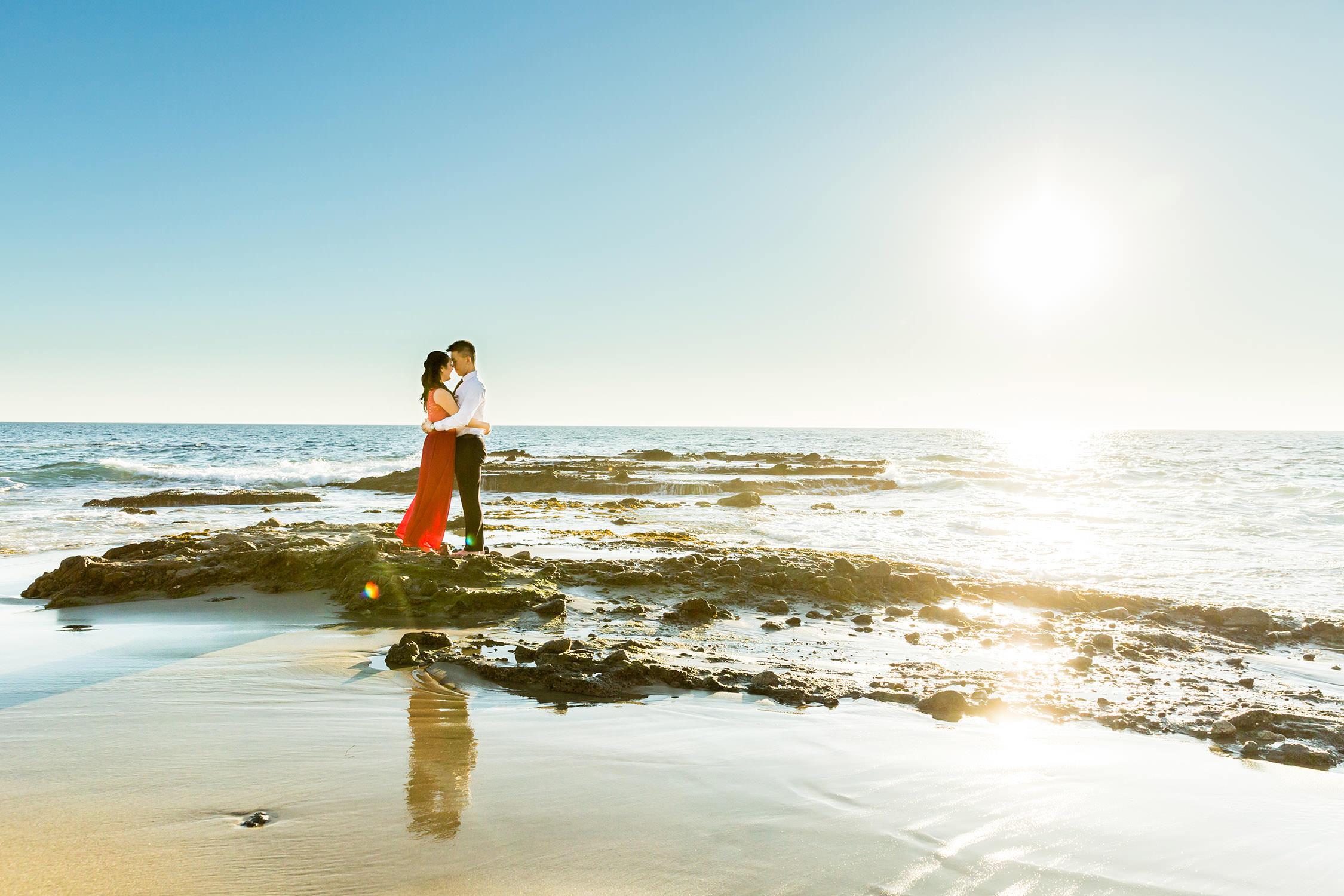 Victoria Beach in Laguna Beach Southern California Engagement session