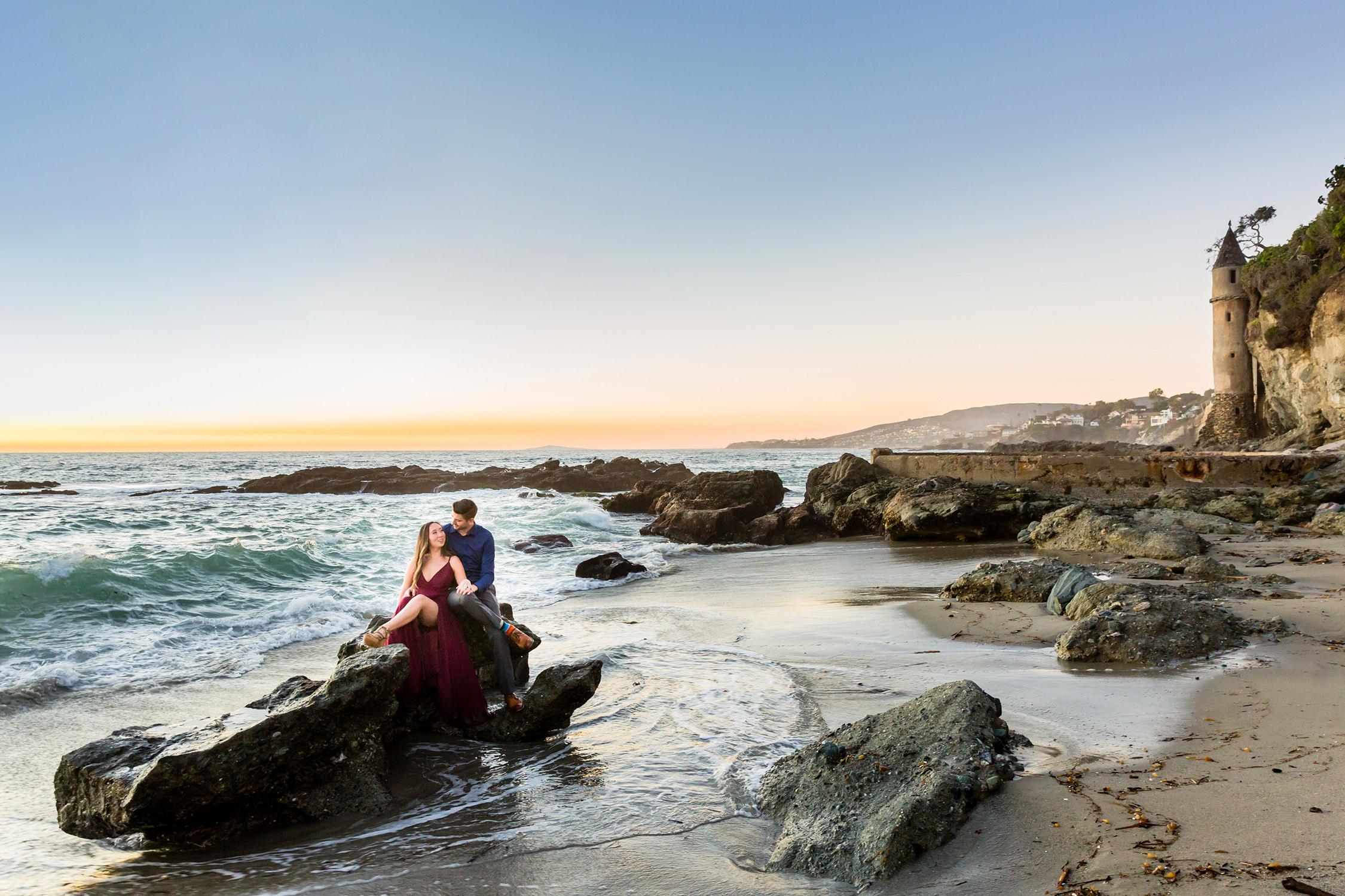 bycphotography laguna beach victoria beach engagement session kj