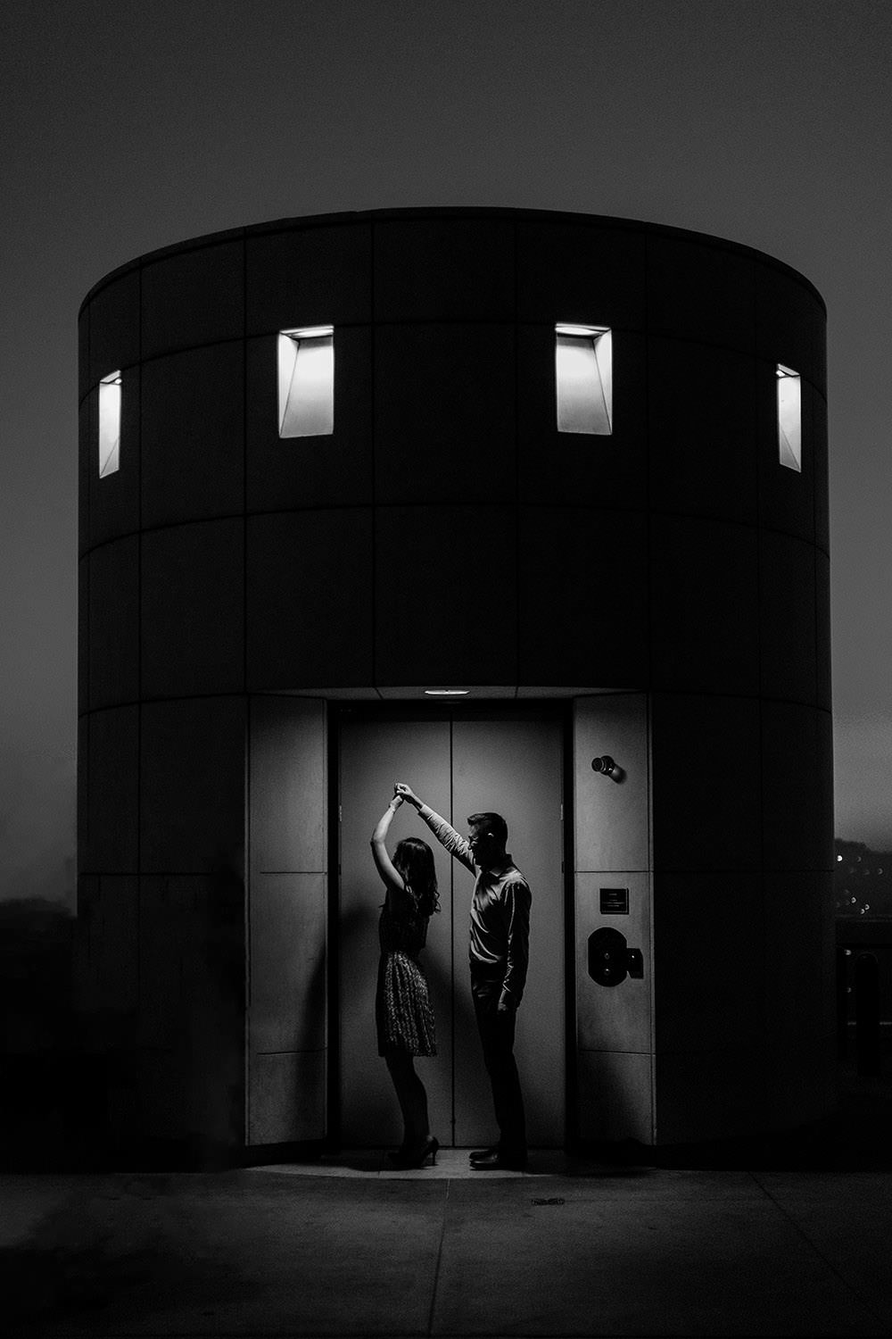 Downtown Los Angeles Engagement Session at Griffith Observatory