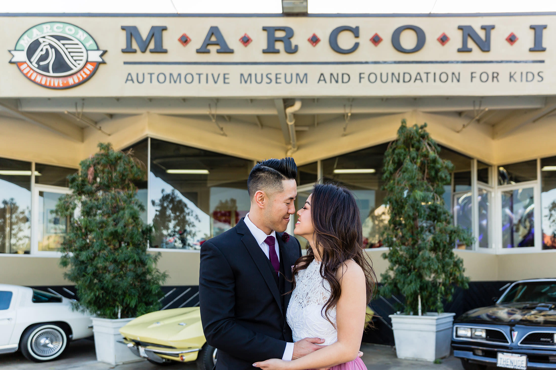 Engagement Session and wedding at the Marconi Museum in Tustin, Southern California