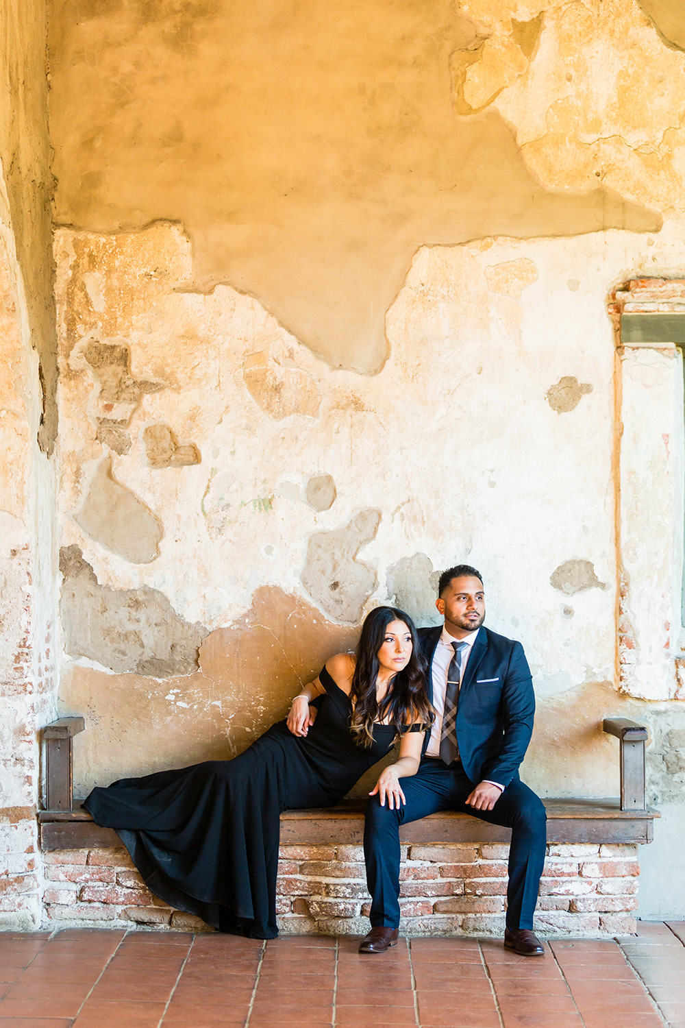 bycphotography mission san jian capistrano engagement session jr