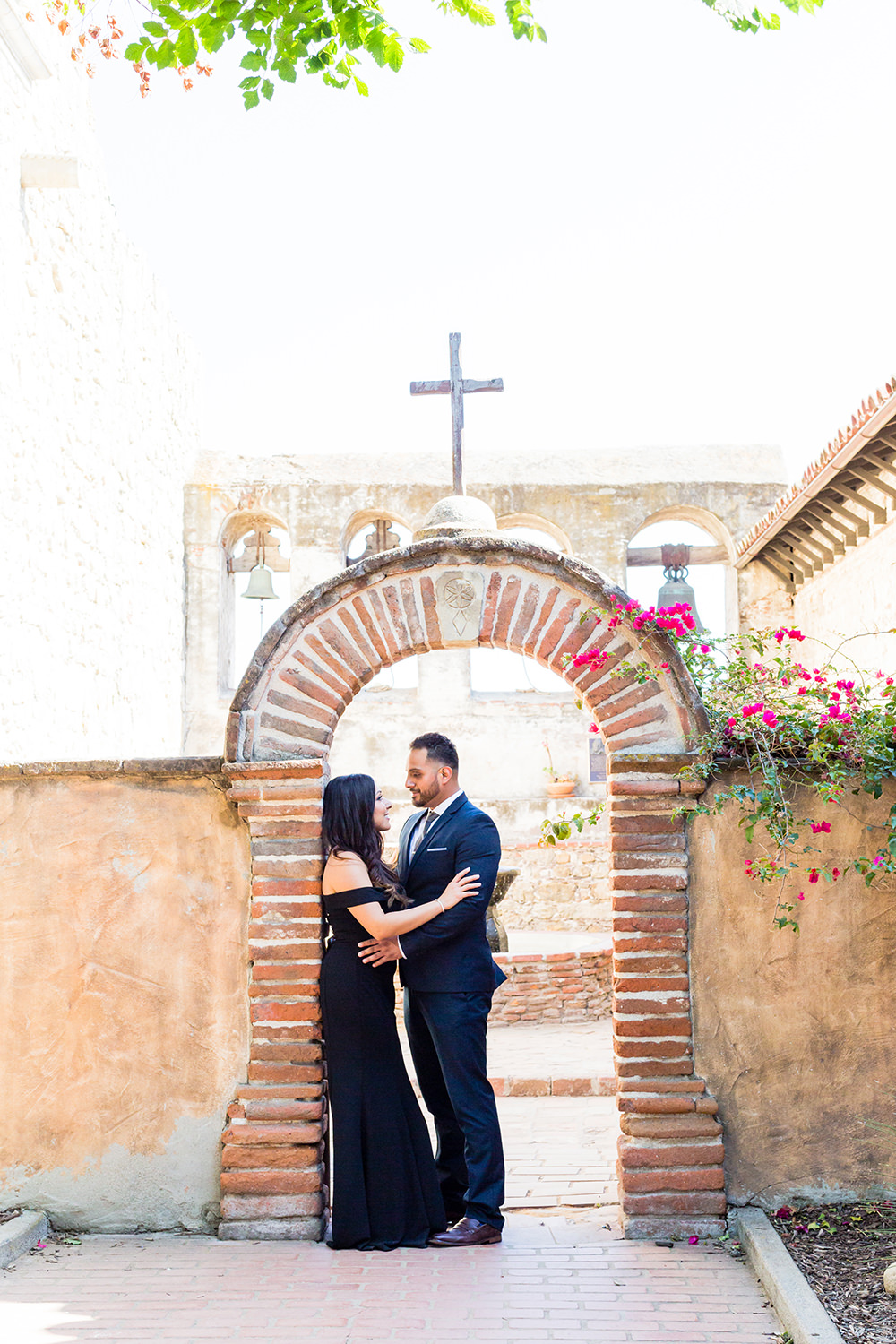 bycphotography mission san jian capistrano engagement session sacred garden