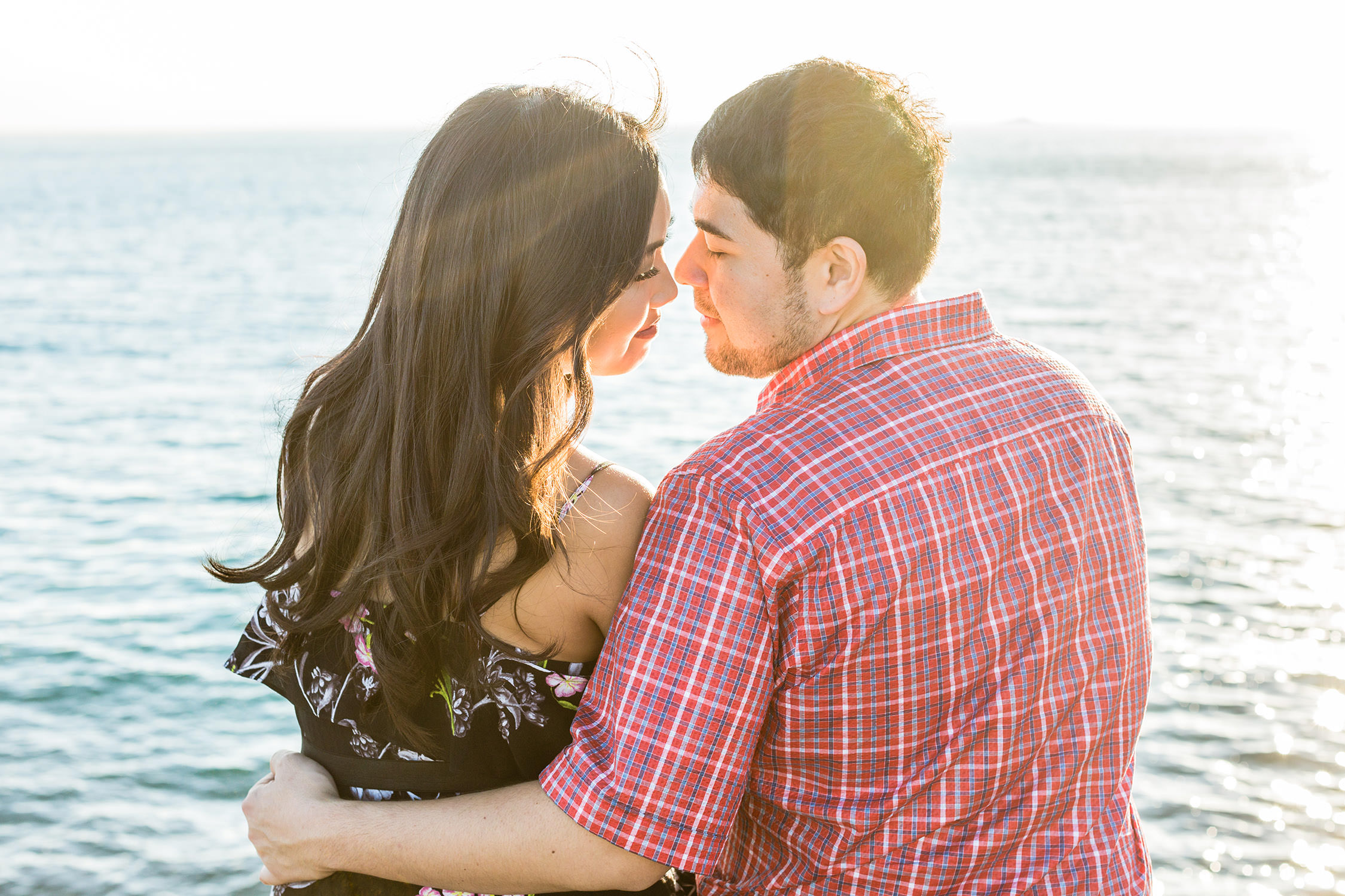 Engagement session at the Ocean institute in Dana Point southern california
