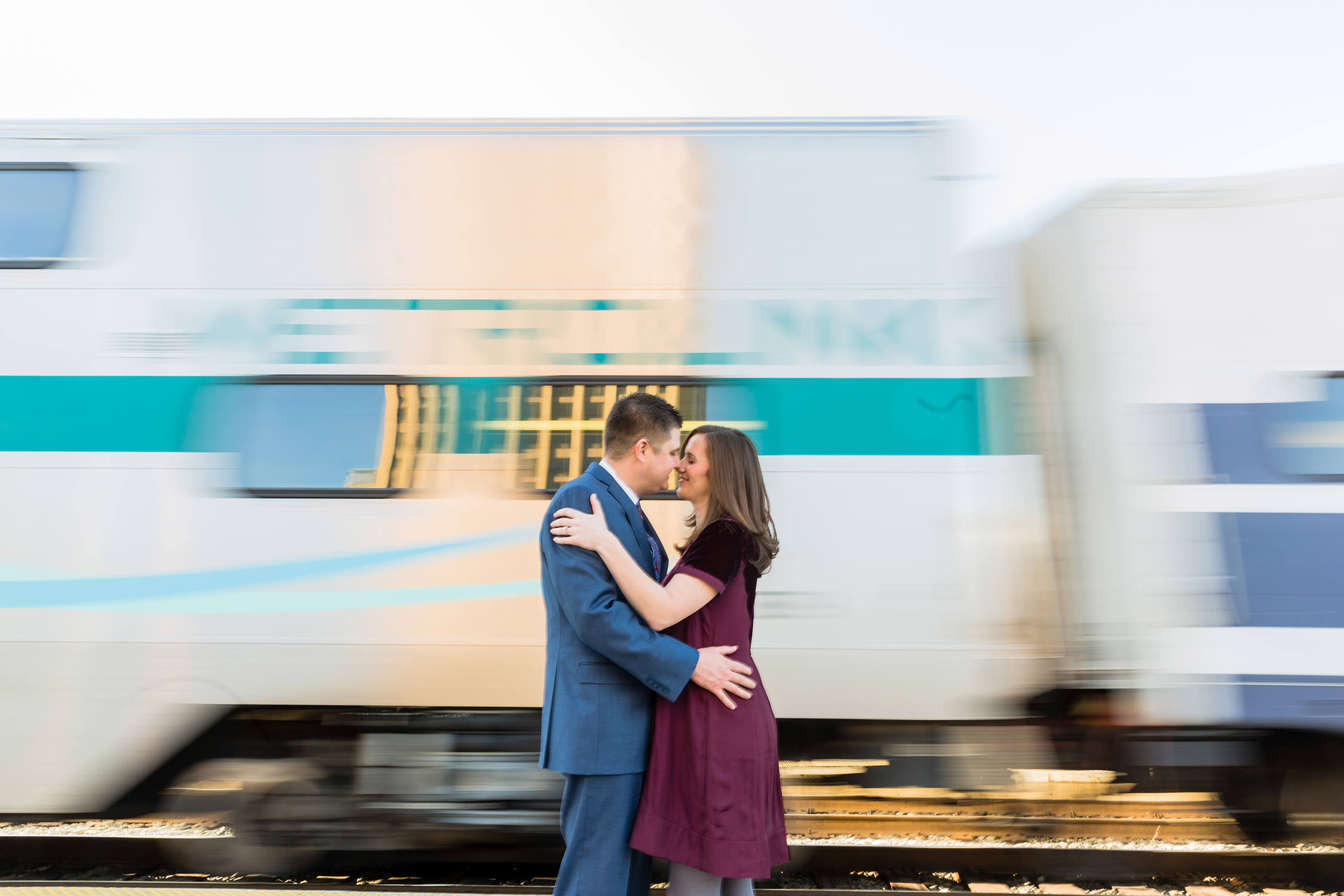 Engagement Session at the Union Station in Los Angeles, CA