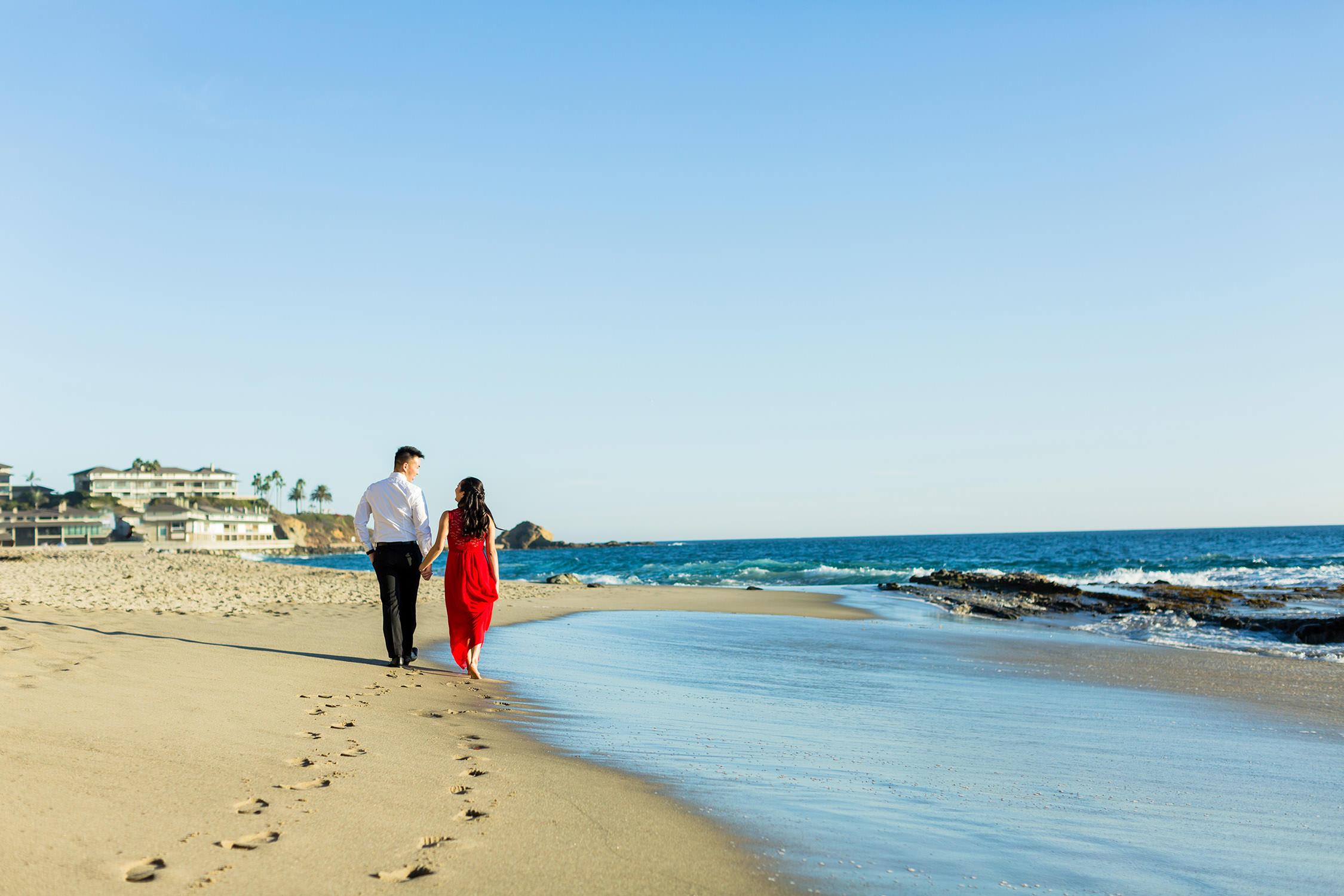 Engagement Session in Victoria Beach in Laguna Beach, Southern California