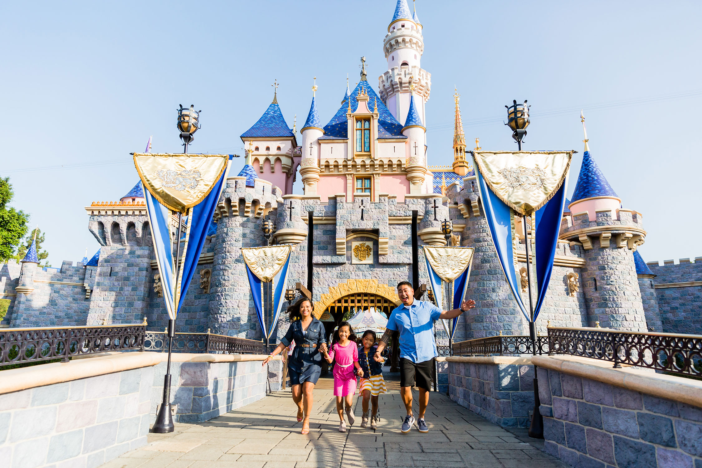 Disneyland family photographer castle