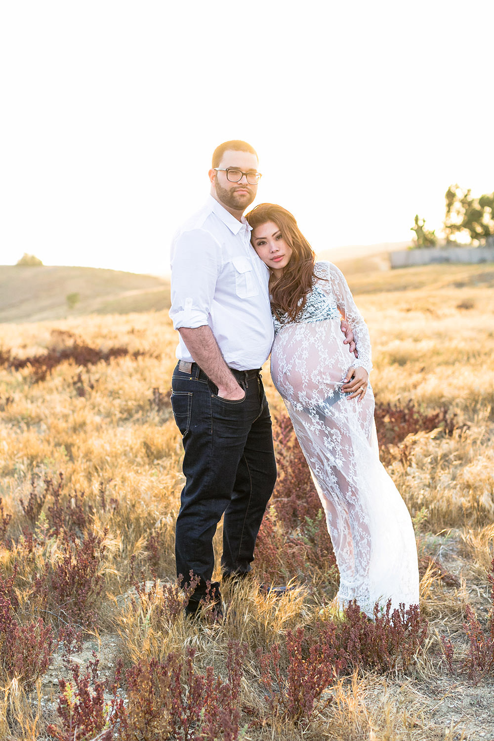 Maternity Session at trailhead in Chino Hills, California