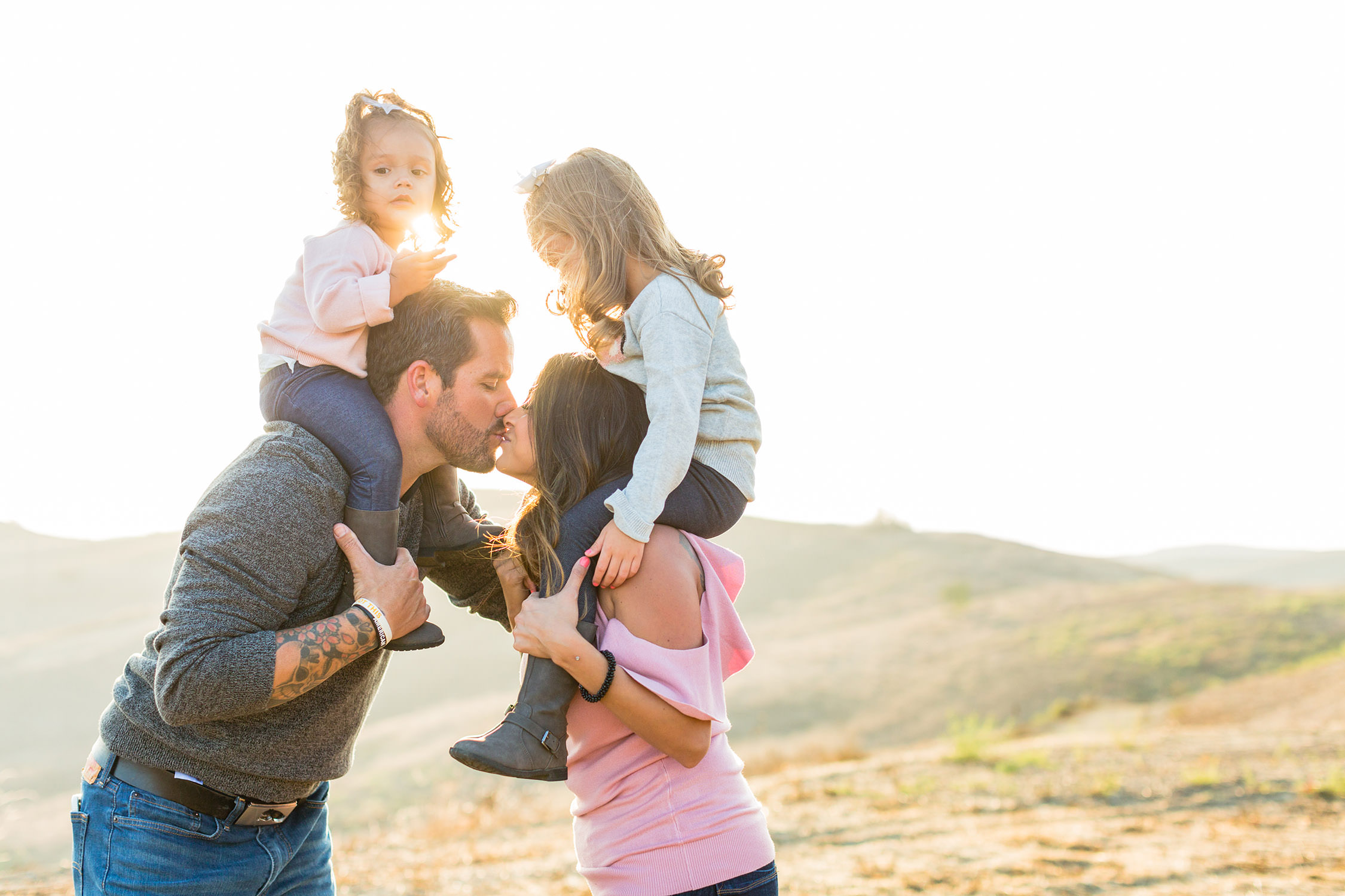 Family Session at trailhead in Chino Hills, California