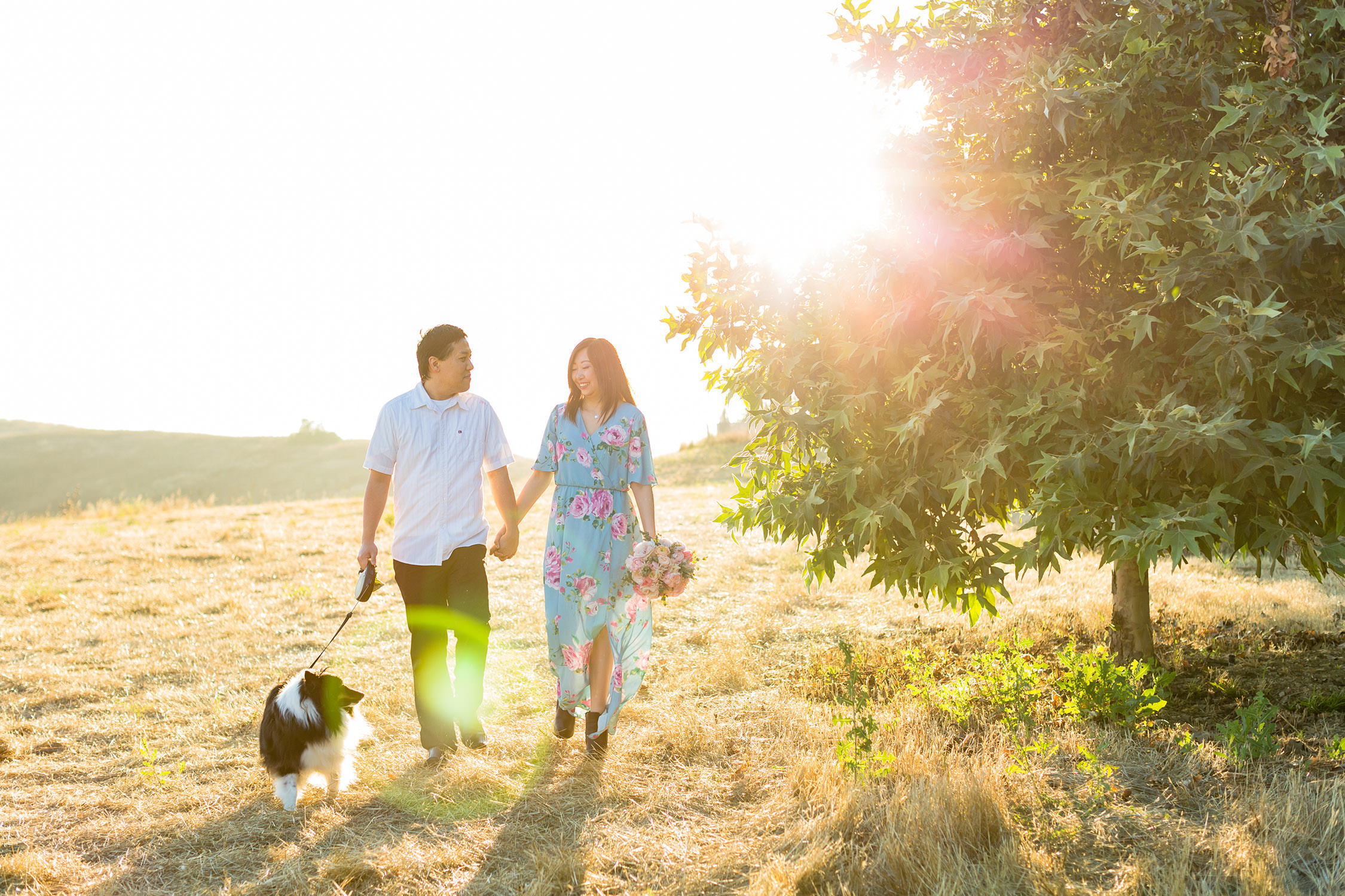 Portraits session with dog in Chino Hills, CA