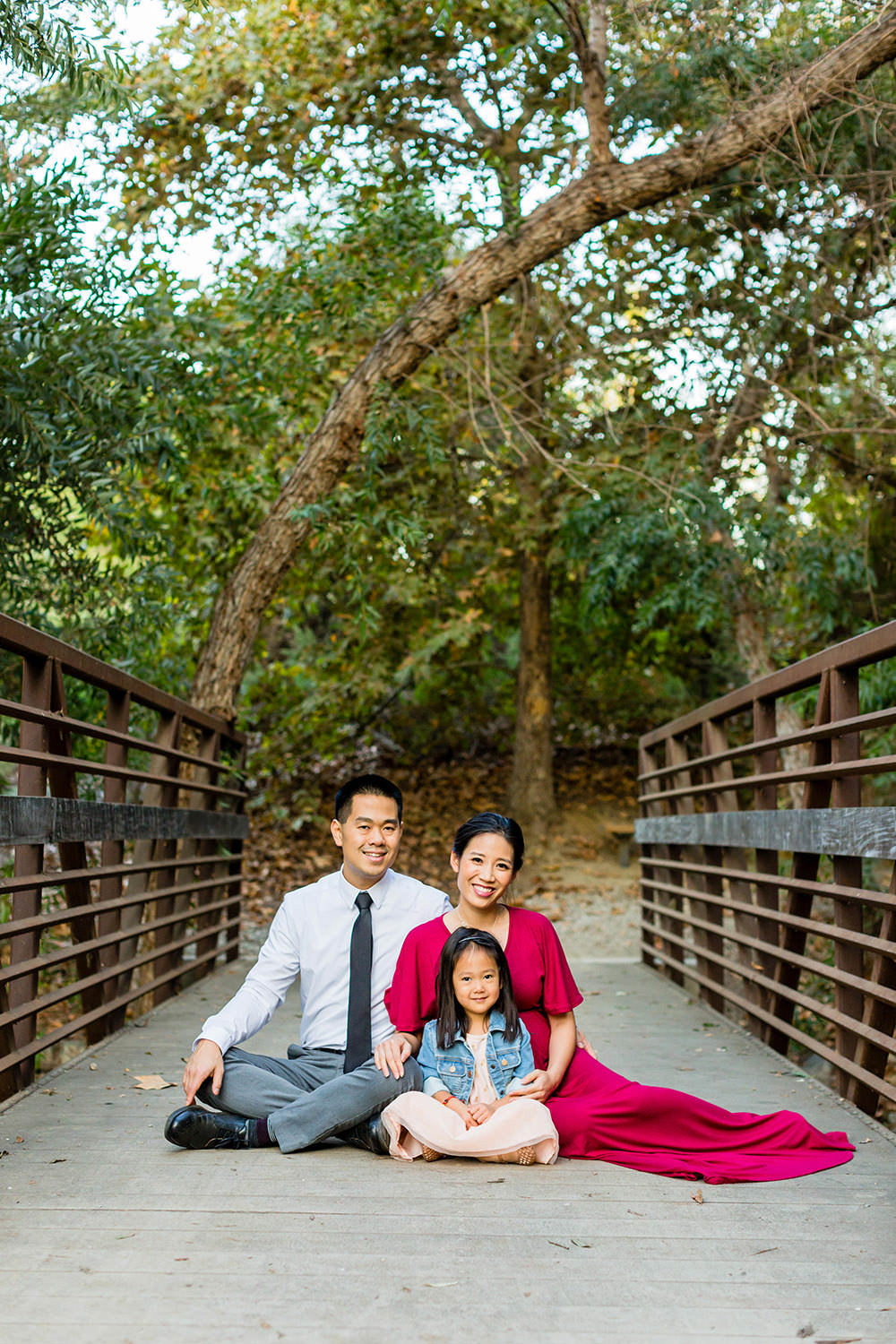 family portraits session at Chino Creek Wetlands & Educational Park in Chino Hills, California