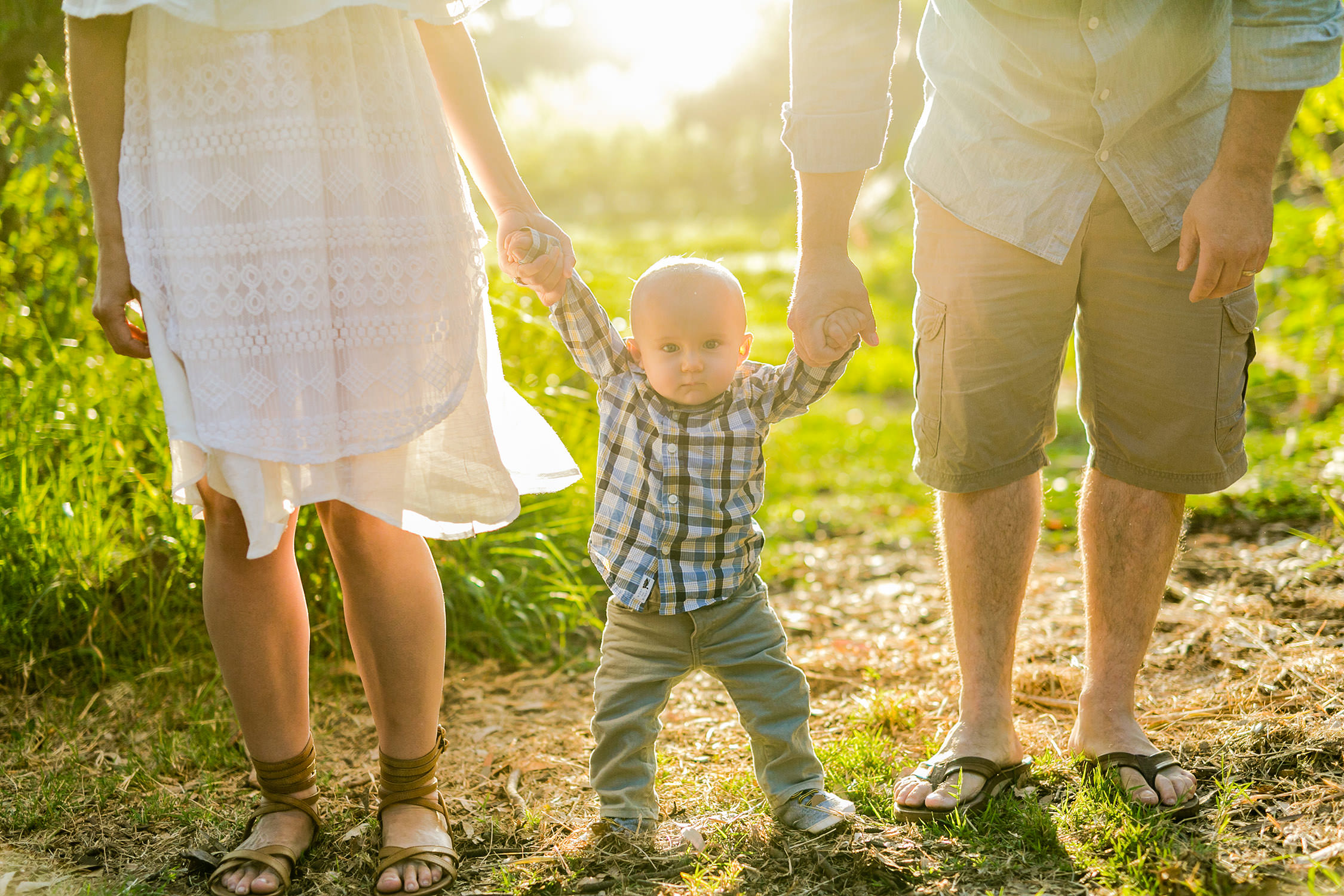 Family Session at Central Park in Huntington Beach, CA